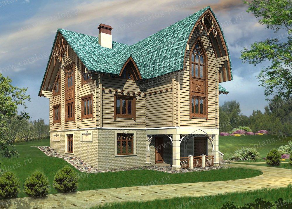 Проект жилой дом #13-28 материал - дерево, стиль модерн