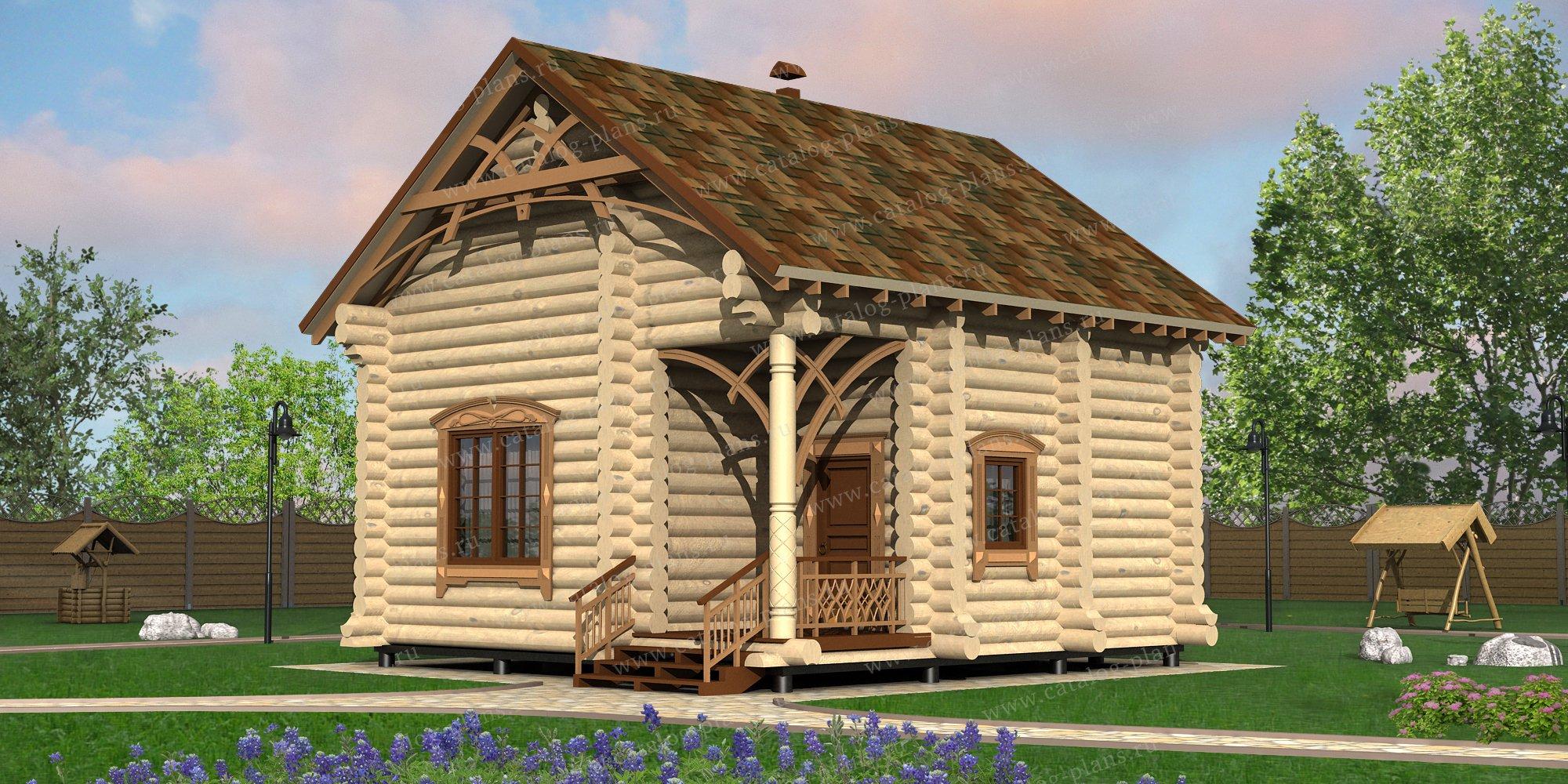 Проект жилой дом #13-74 материал - дерево, стиль модерн