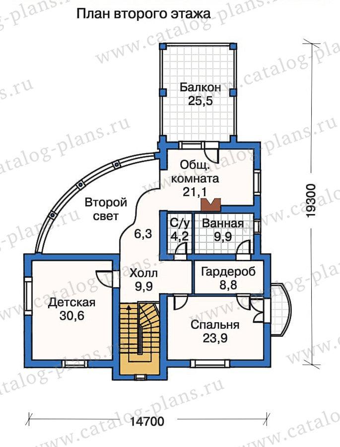 План 3-этажа проекта 50-23
