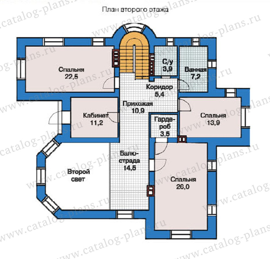 План 2-этажа проекта 49-01