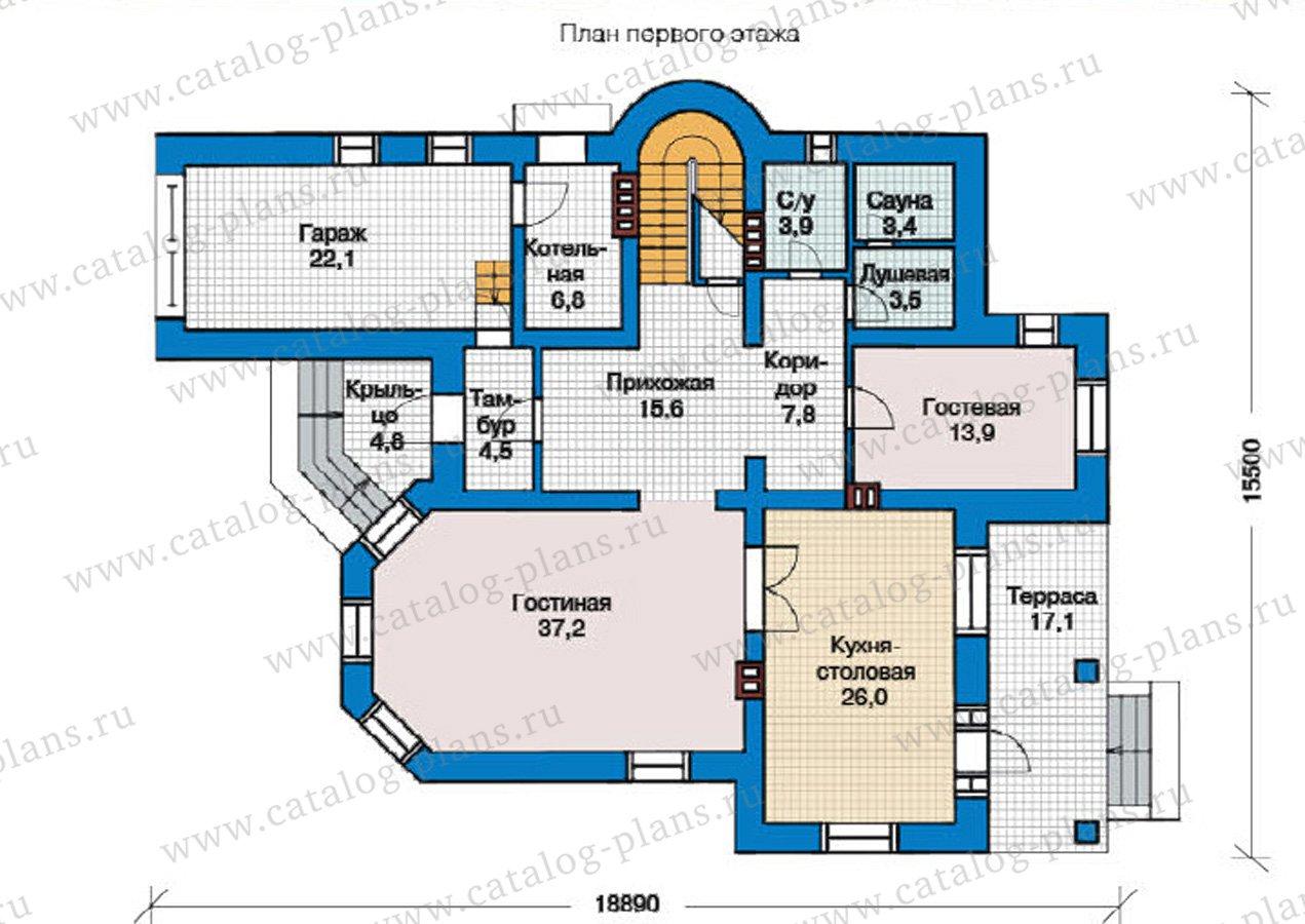 План 1-этажа проекта 49-01