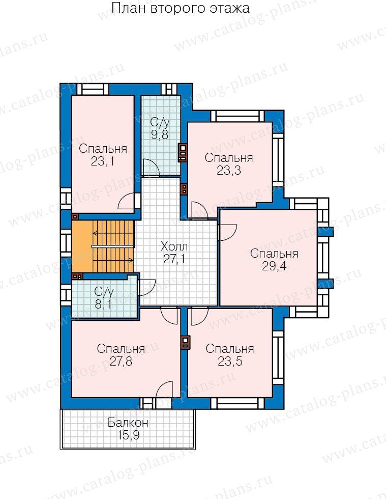 План 2-этажа проекта 40-30