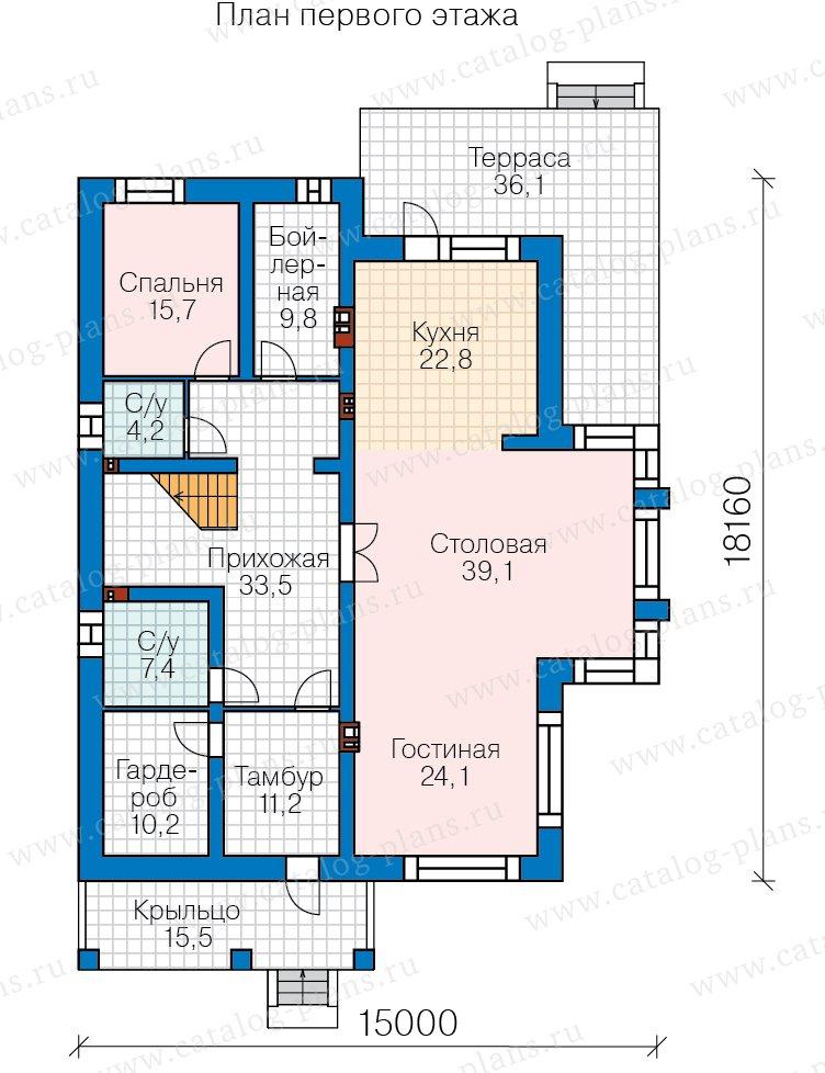 План 1-этажа проекта 40-30