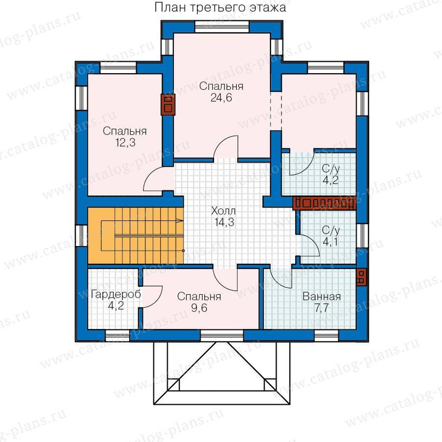 План 3-этажа проекта 57-12A