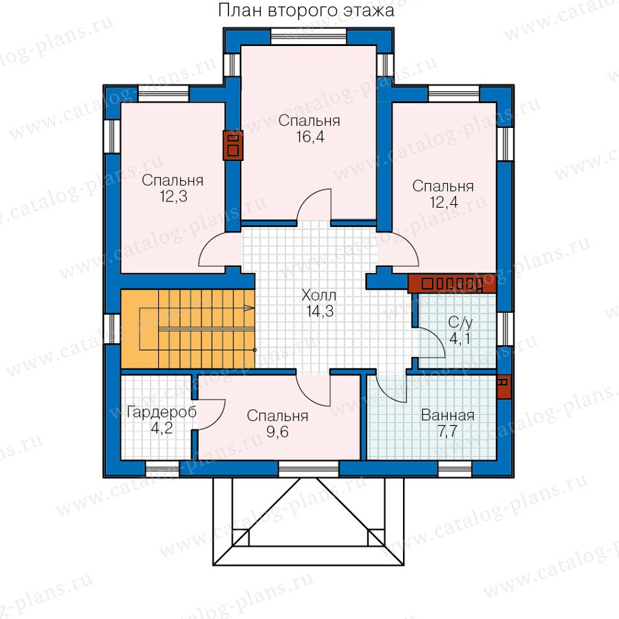 План 2-этажа проекта 57-12A