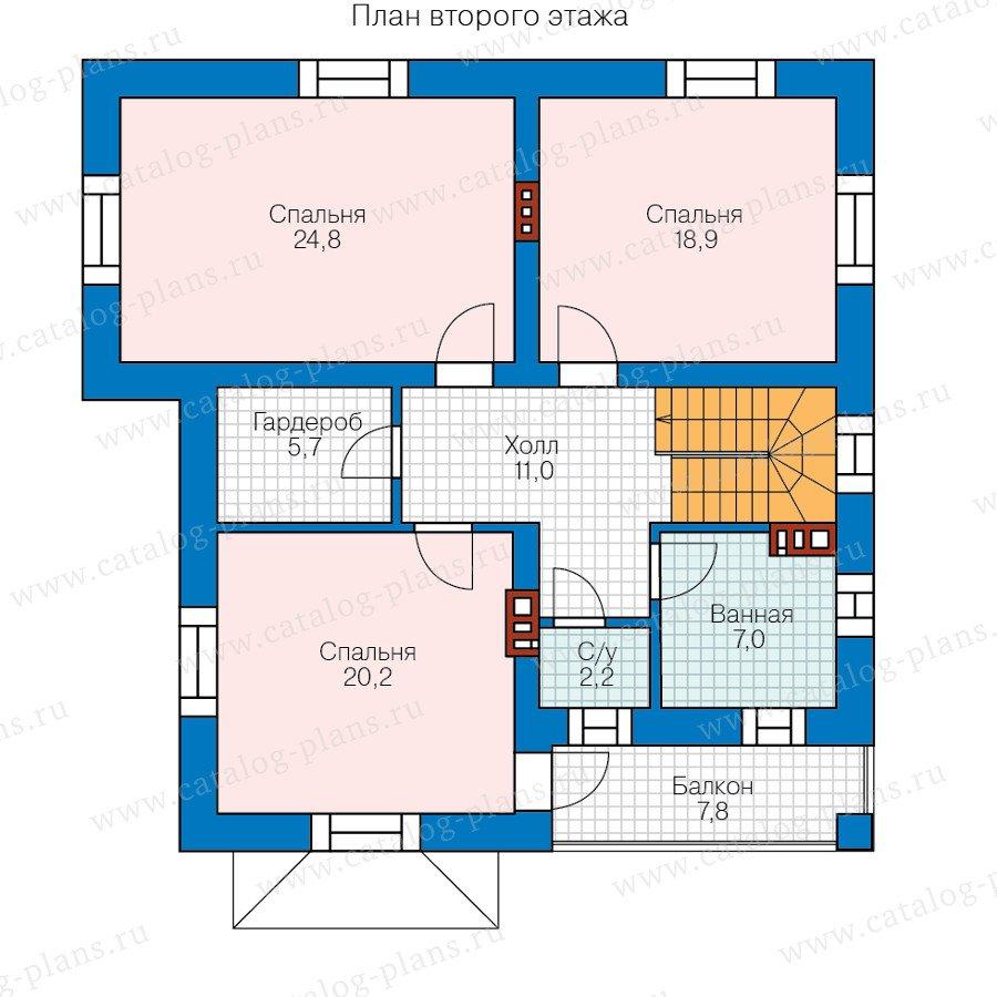 План 2-этажа проекта 40-54