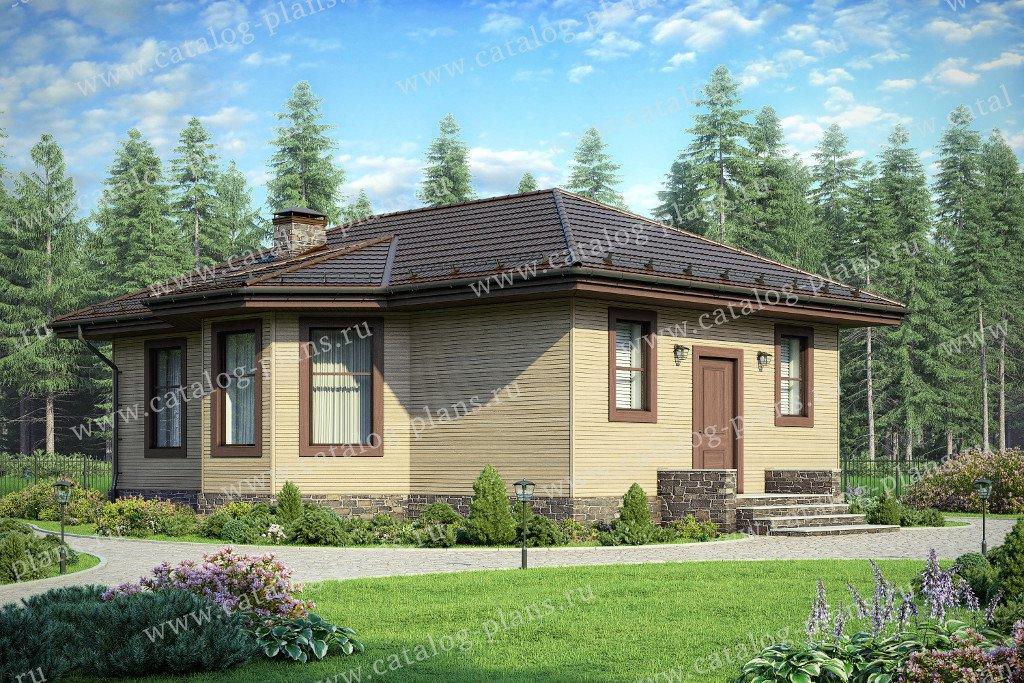Проект жилой дом #60-92 материал - газобетон, стиль европейский
