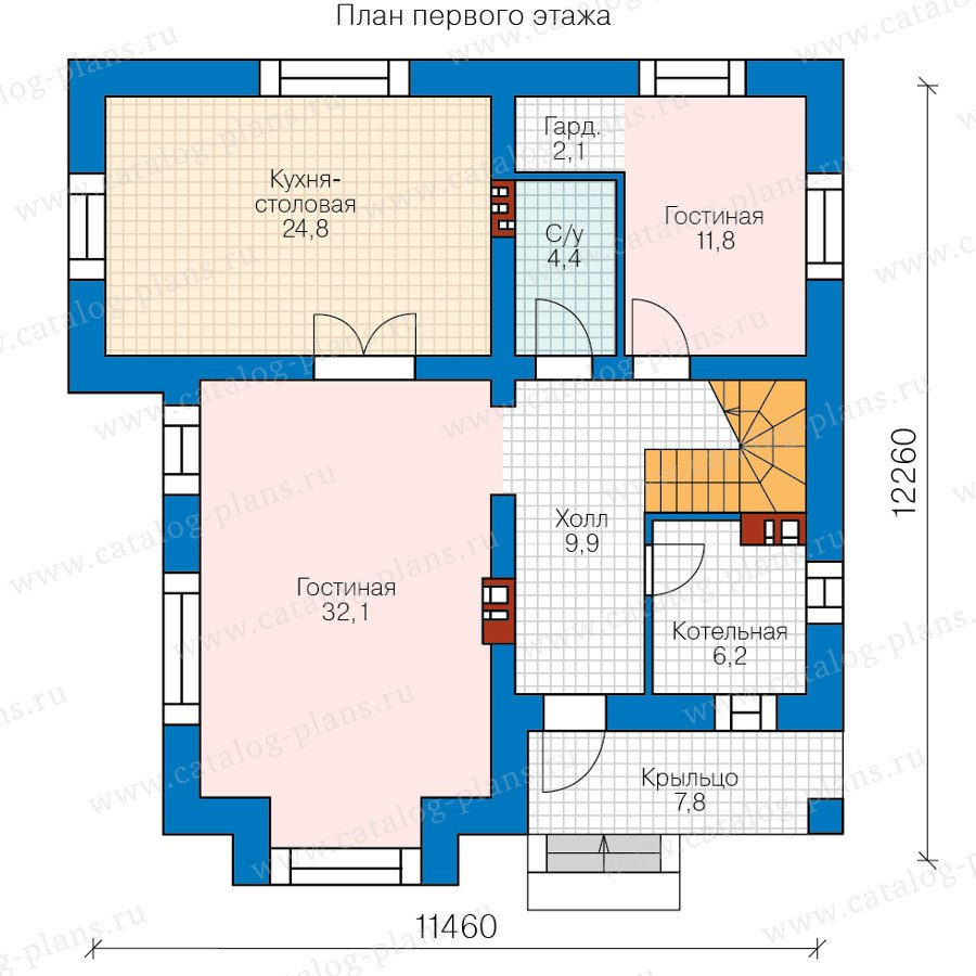 План 1-этажа проекта 40-54
