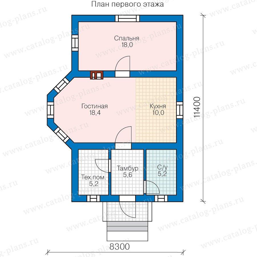 План 1-этажа проекта 60-92