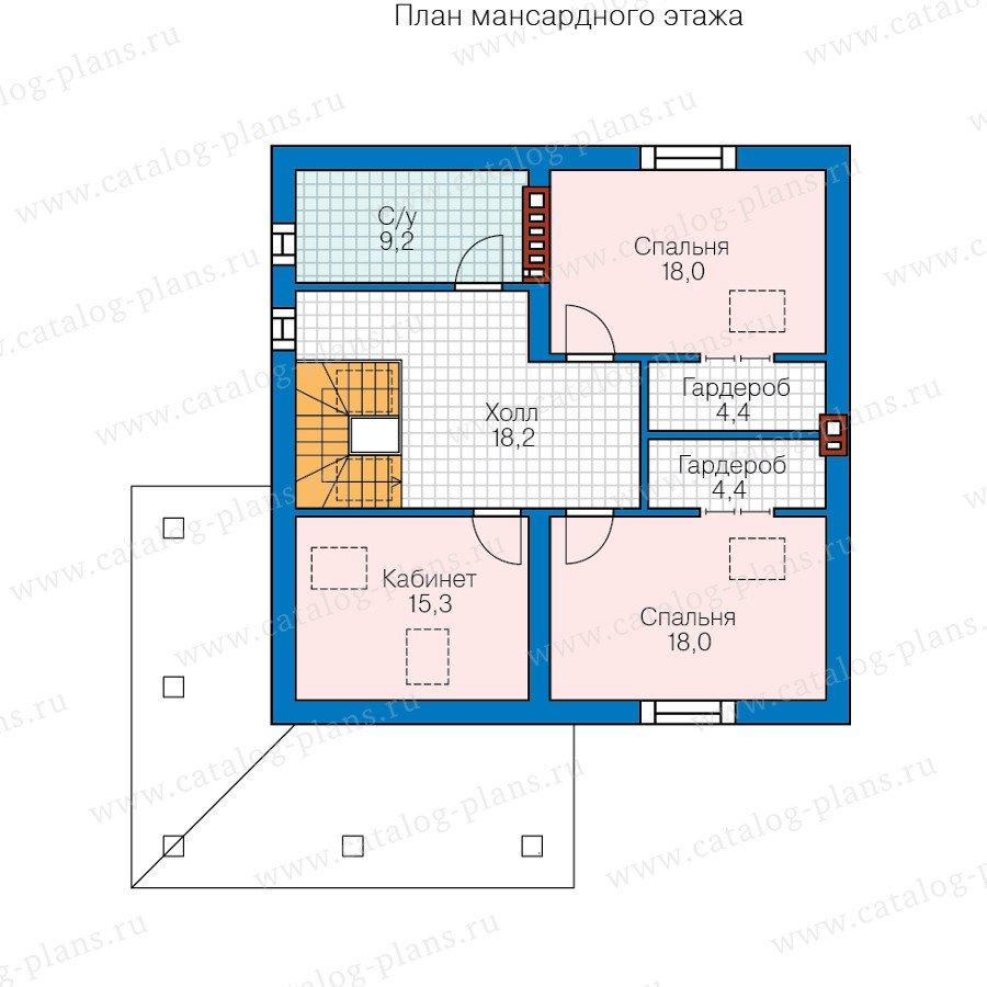 План 2-этажа проекта 58-75