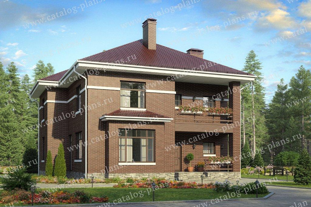 Проект жилой дом #40-54 материал - кирпич, стиль современный