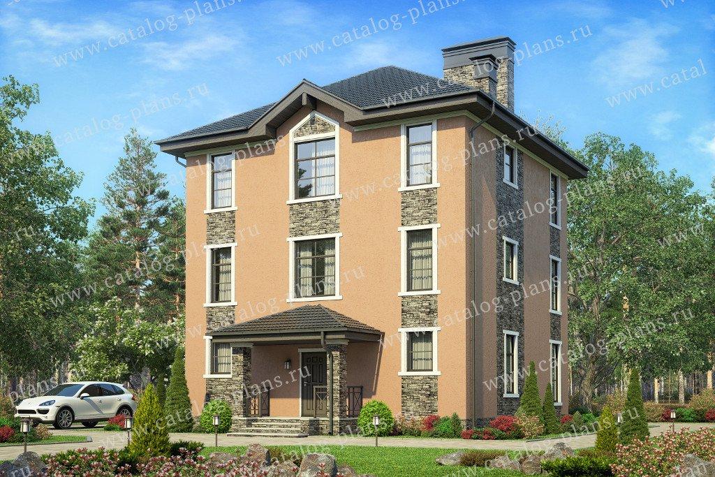 Проект жилой дом #57-12A материал - газобетон, стиль европейский