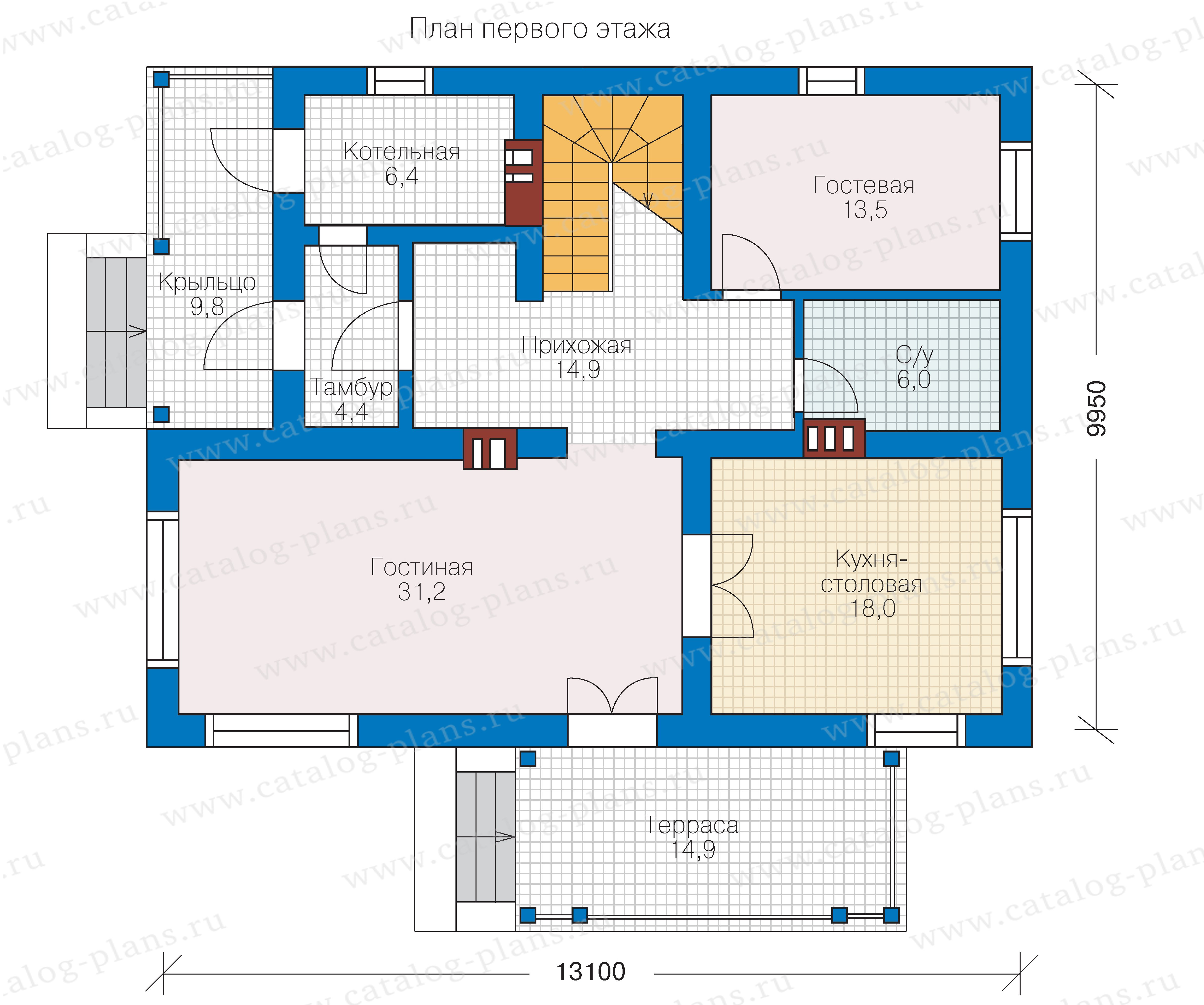 План 1-этажа проекта 57-03K