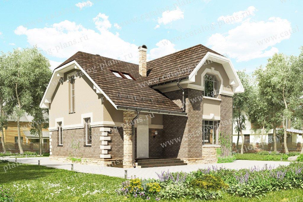 Проект жилой дом #60-94 материал - газобетон, стиль европейский