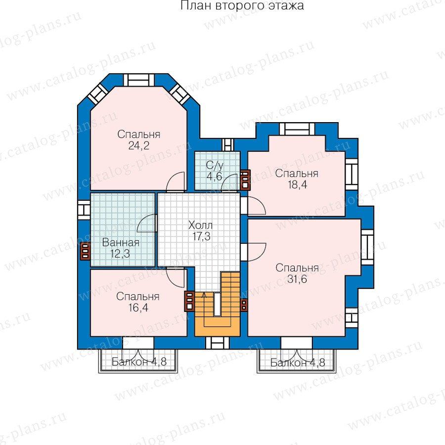 План 2-этажа проекта 48-29H