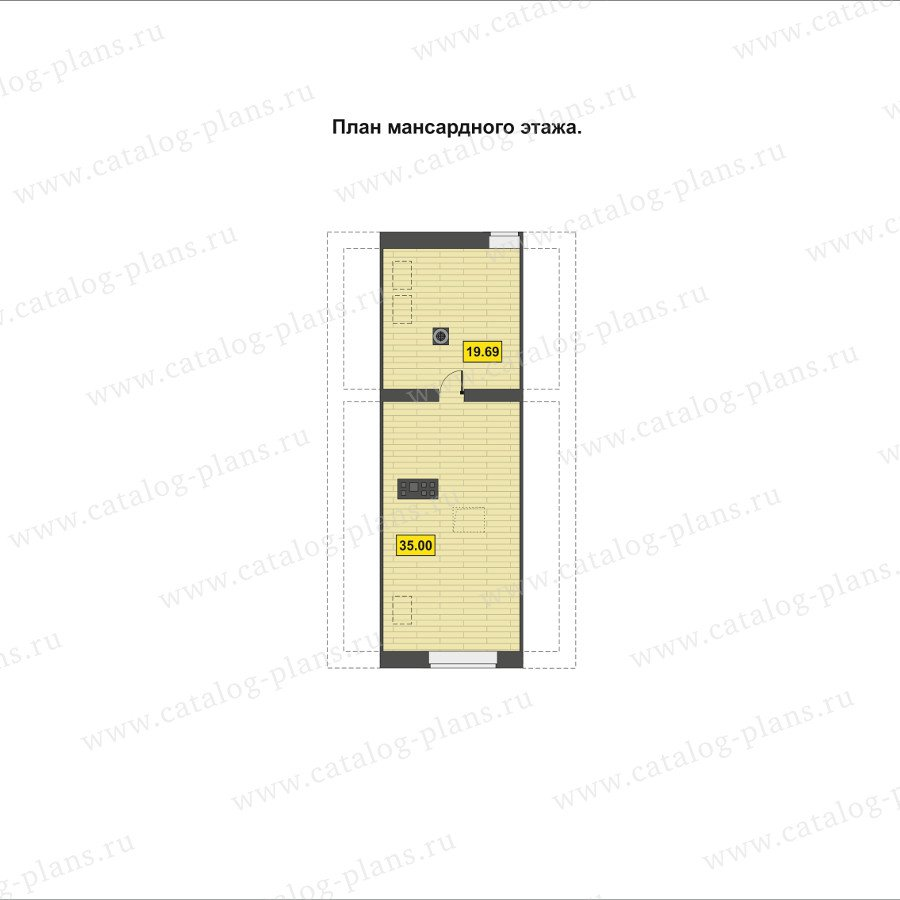 План 3-этажа проекта 60-93
