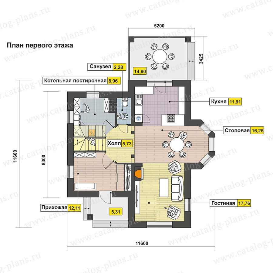 План 1-этажа проекта 60-94