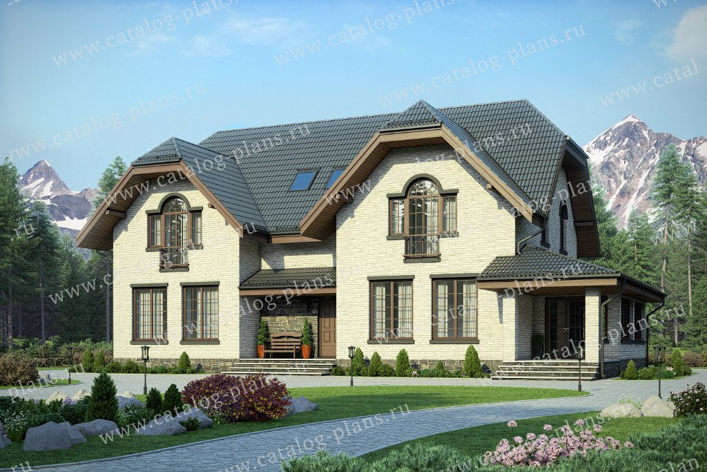 Проект жилой дом #40-60 материал - кирпич, стиль немецкий