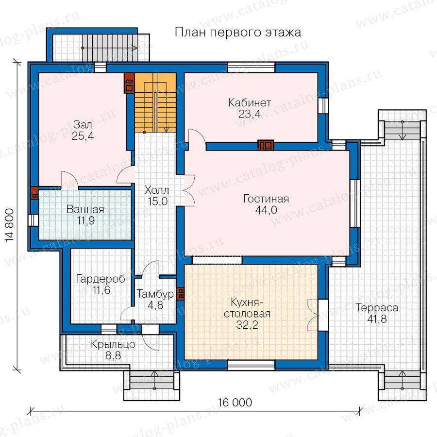 План 2-этажа проекта 57-49A