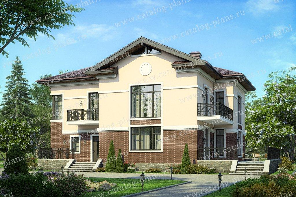 Проект жилой дом #57-49A материал - газобетон, стиль американский