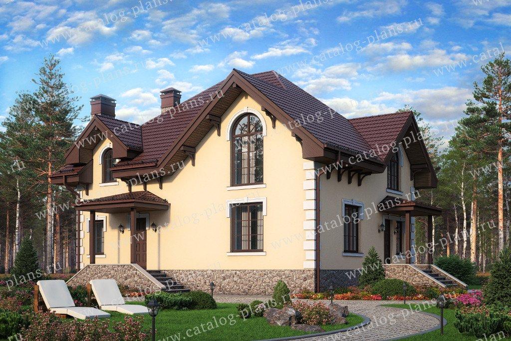 Проект жилой дом #58-72 материал - газобетон, стиль европейский
