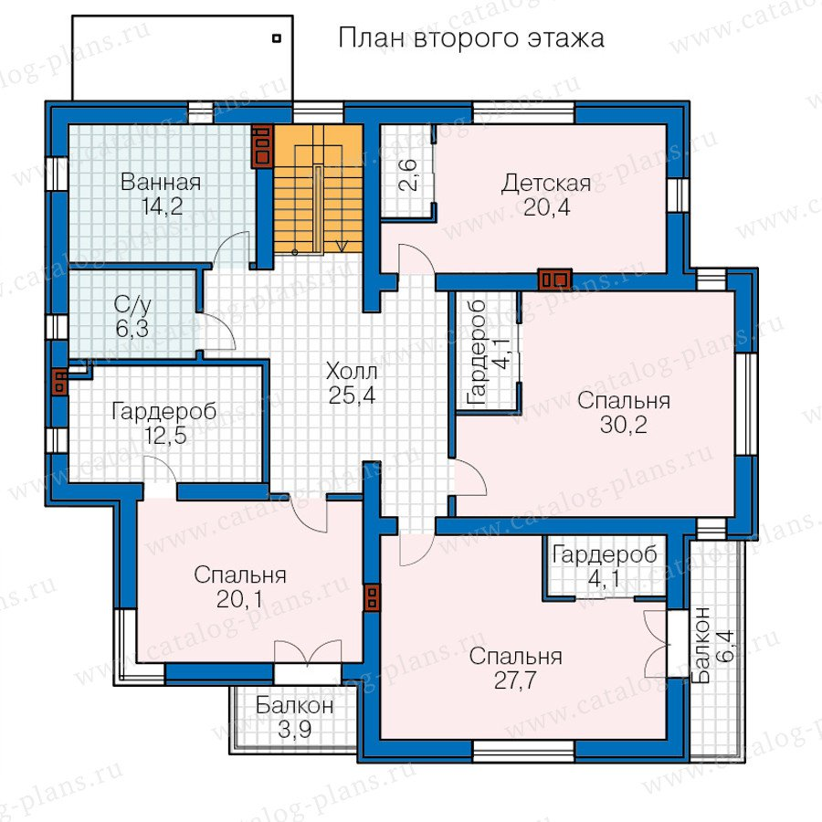 План 3-этажа проекта 57-49A