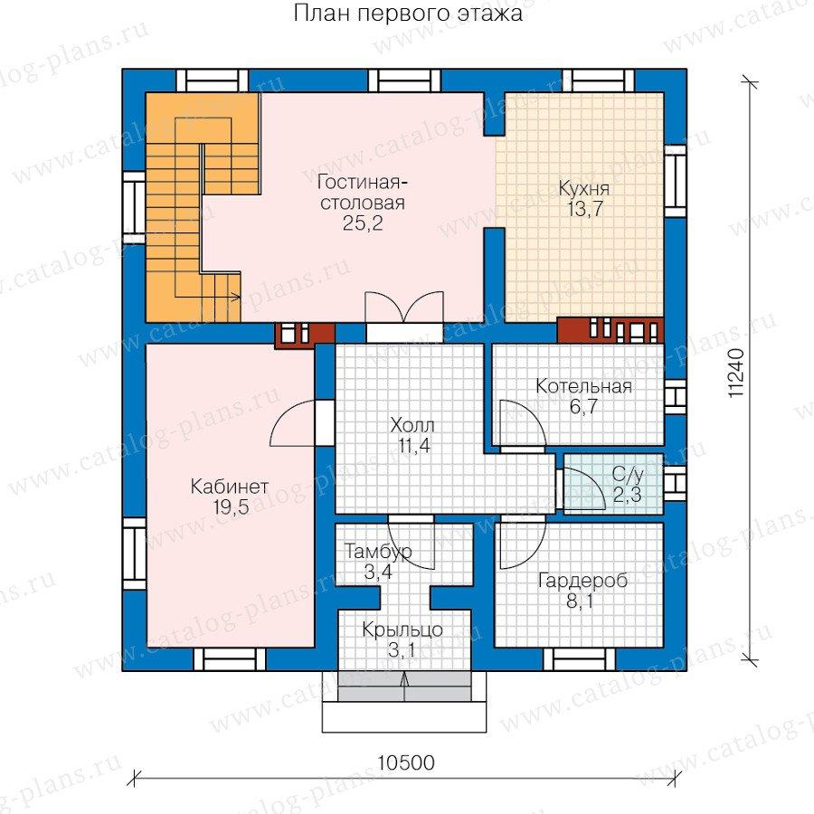 План 1-этажа проекта 57-23B