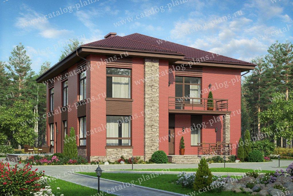 Проект жилой дом #48-24B материал - кирпич, стиль современный