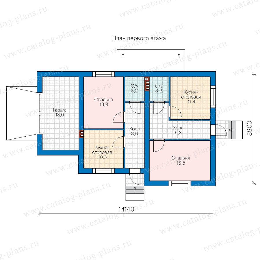 План 2-этажа проекта 40-59