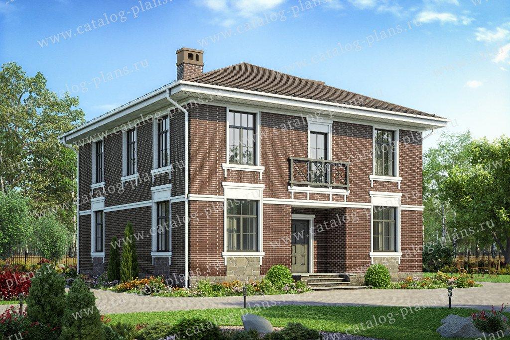 Проект жилой дом #57-23B материал - газобетон, стиль классический