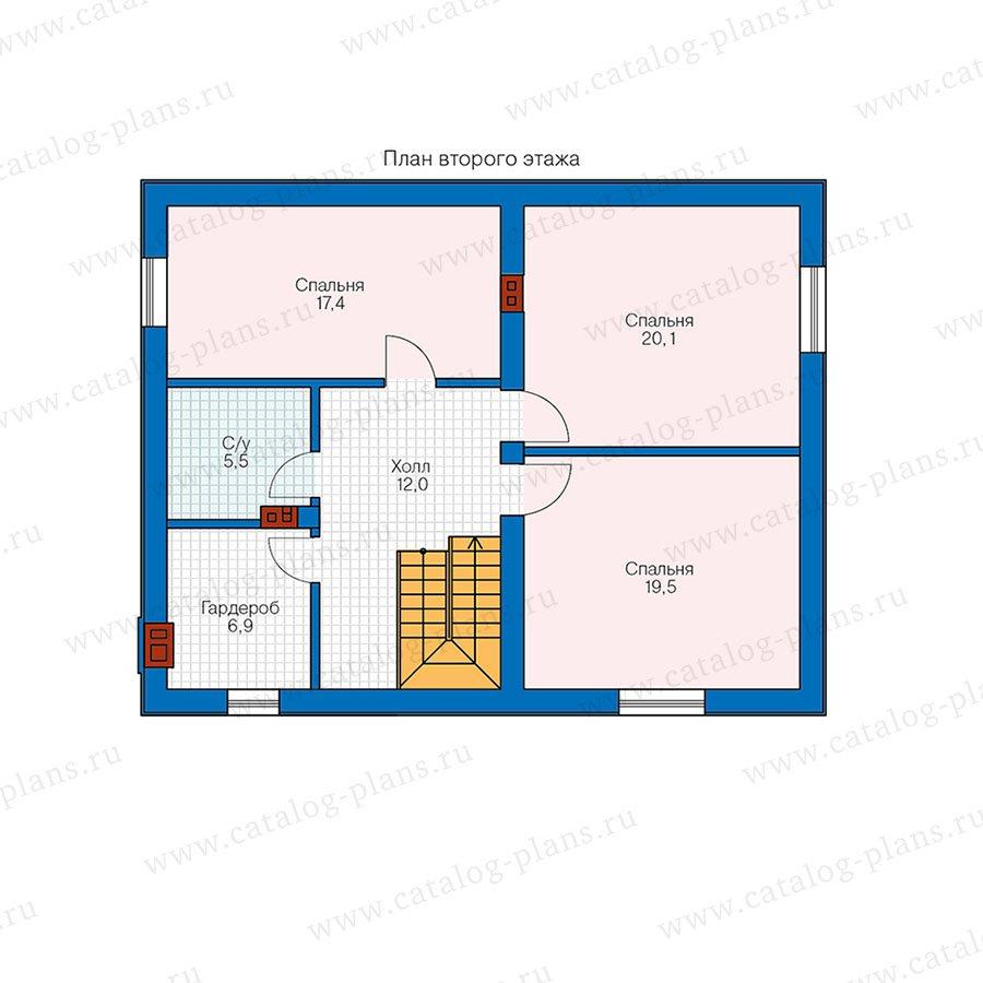 План 2-этажа проекта 58-72