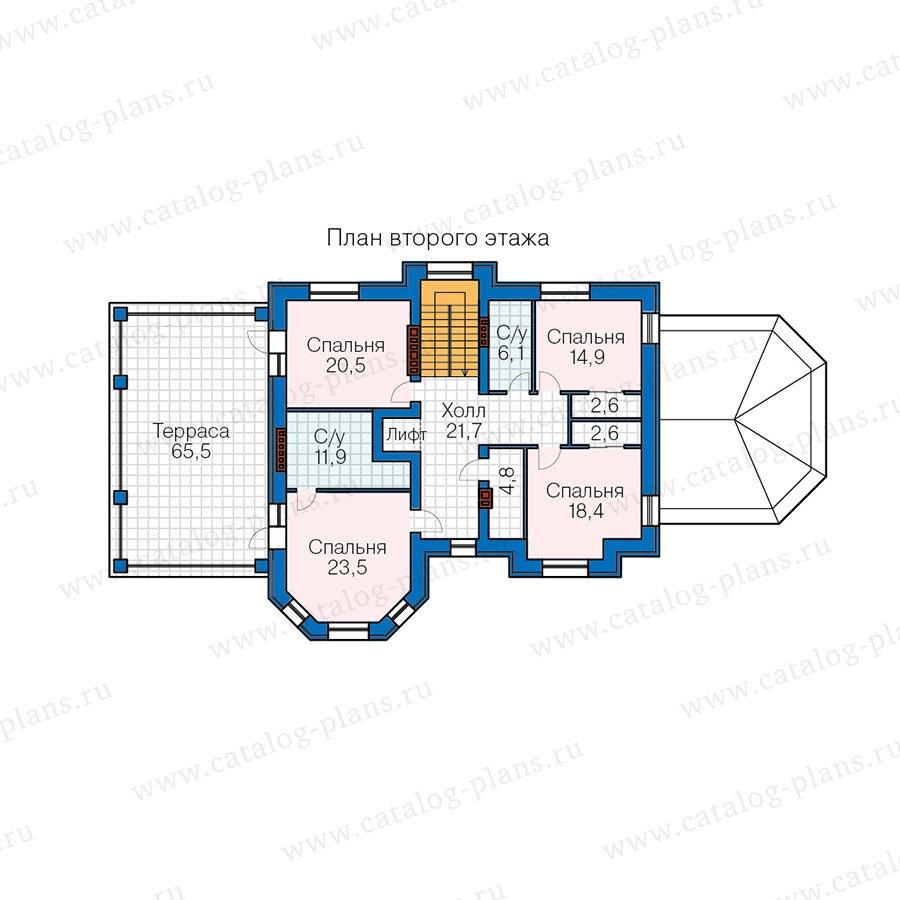 План 3-этажа проекта 40-67