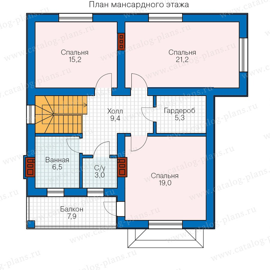 План 2-этажа проекта 58-77