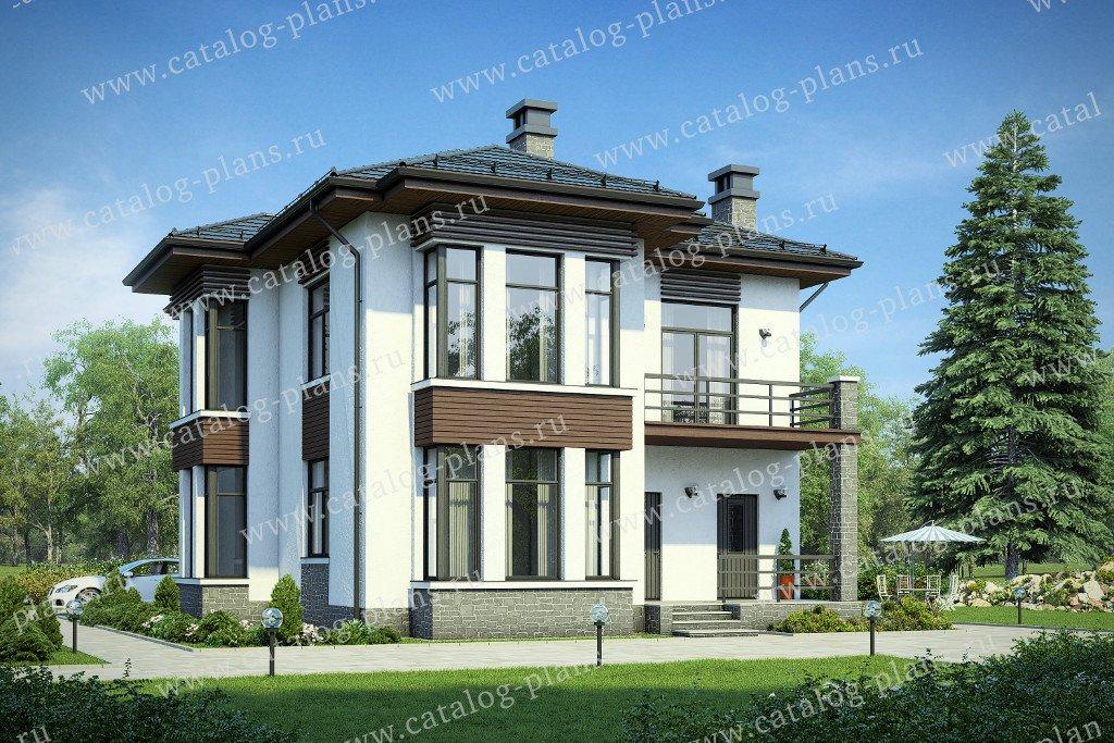 Проект жилой дом #58-76 материал - газобетон, стиль современный