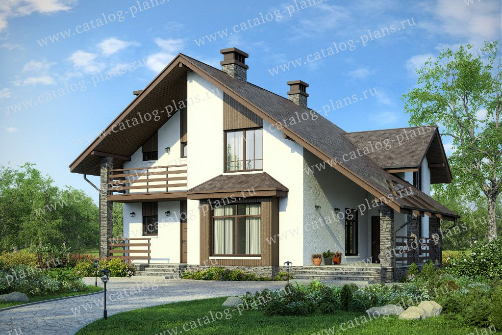 Проект жилой дом #58-77 материал - газобетон, стиль современный