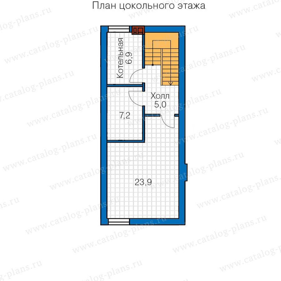 План 1-этажа проекта 40-68