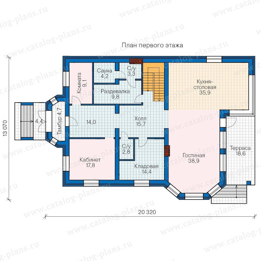 План 2-этажа проекта 40-68