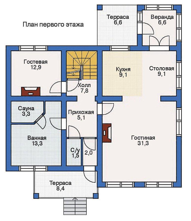 План 2-этажа проекта 10-23