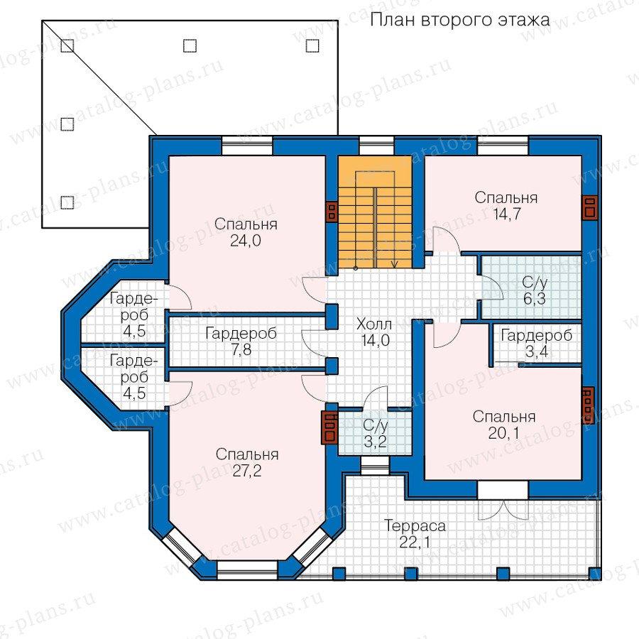 План 2-этажа проекта 40-65L