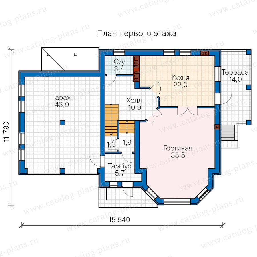 План 2-этажа проекта 40-66
