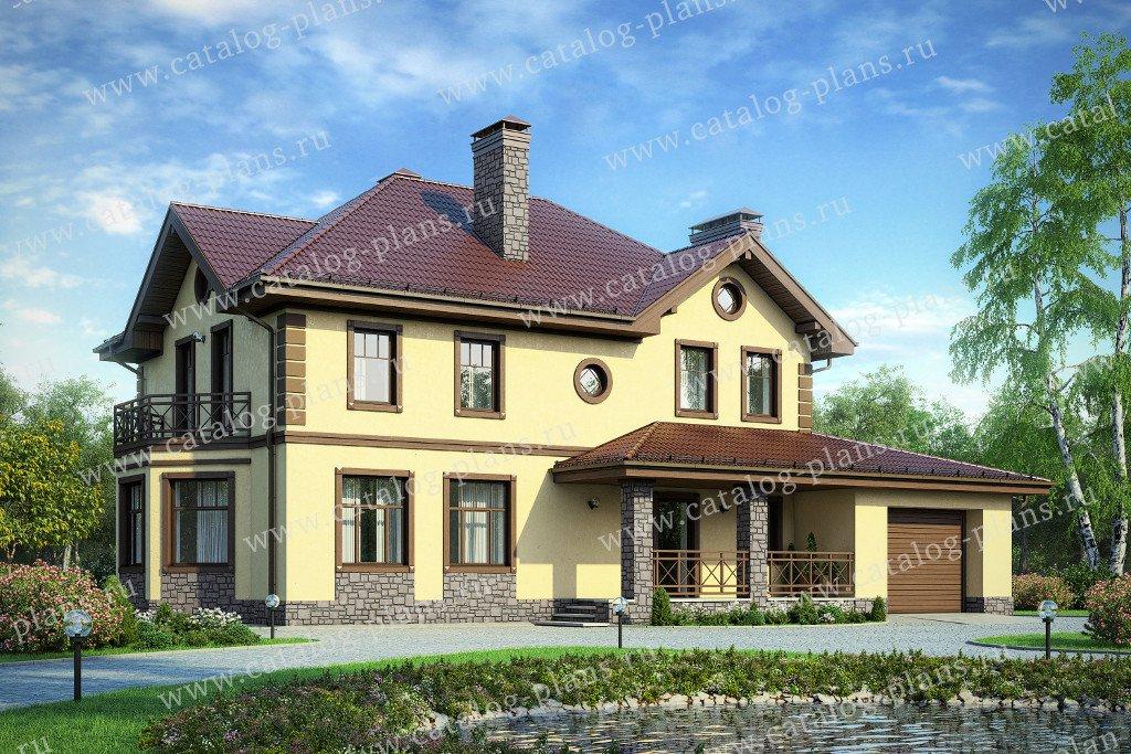 Проект жилой дом #57-29A материал - газобетон, стиль классический
