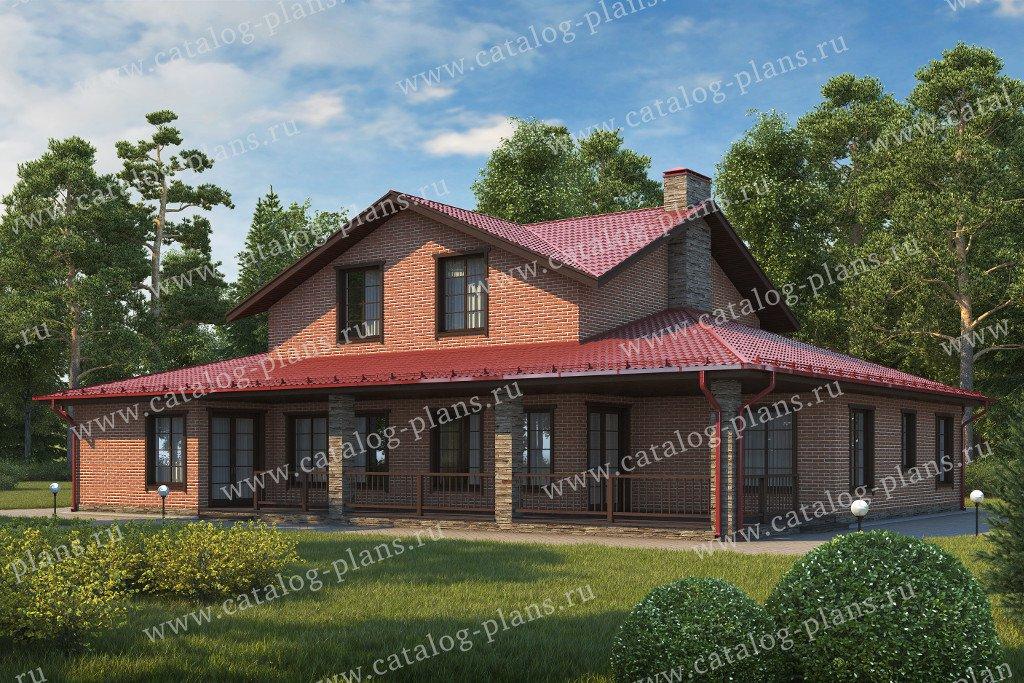 Проект жилой дом #70-83 материал - каркас, стиль европейский