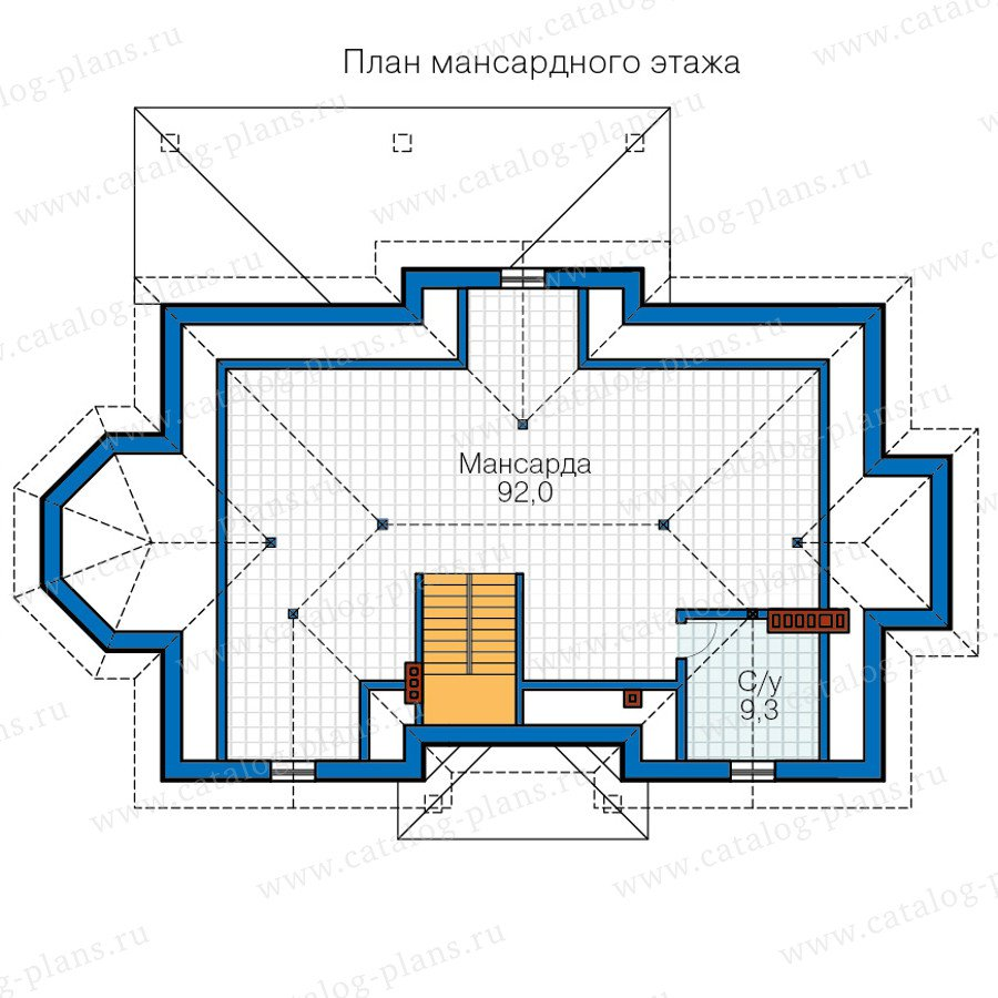 План 3-этажа проекта 58-82