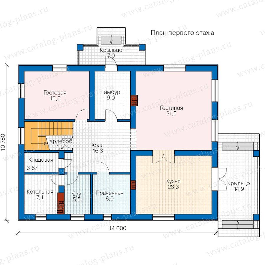 План 1-этажа проекта 57-47C