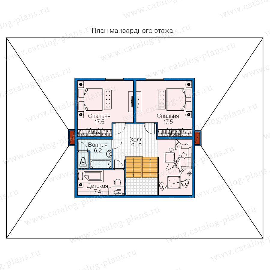 План 2-этажа проекта 70-83