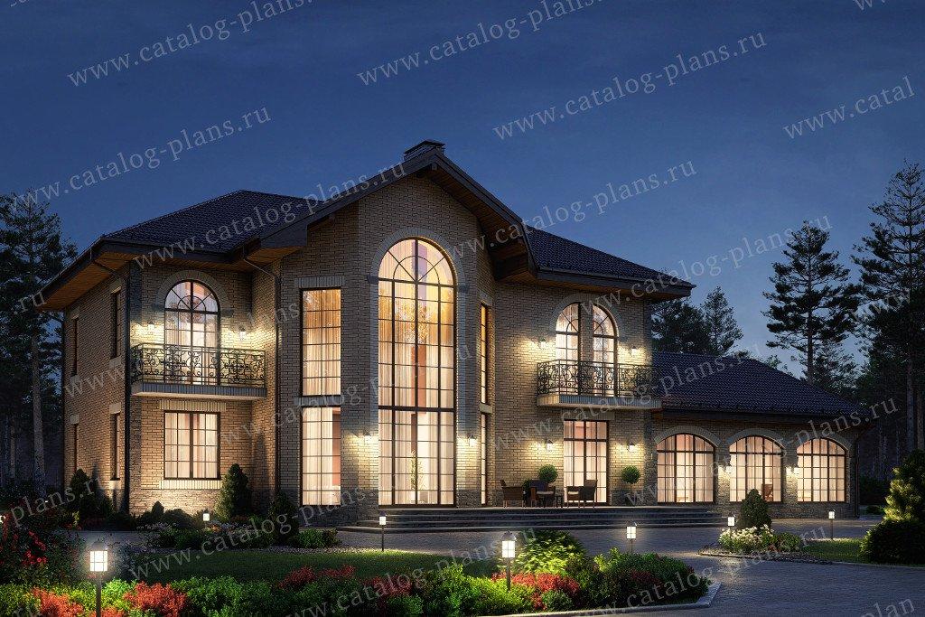 Проект жилой дом #58-74L материал - газобетон, стиль классический