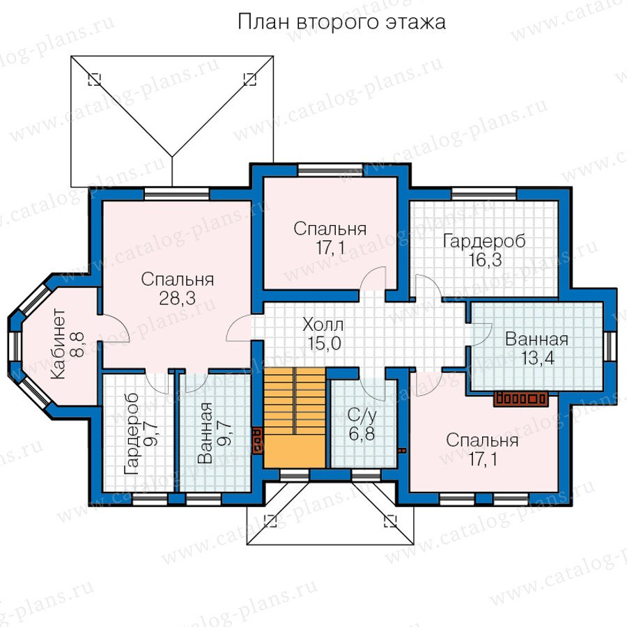 План 2-этажа проекта 58-82