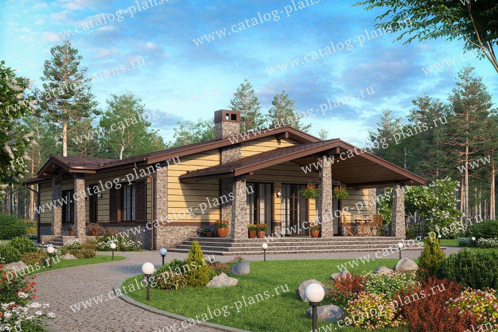 Проект жилой дом #58-84 материал - газобетон, стиль скандинавский