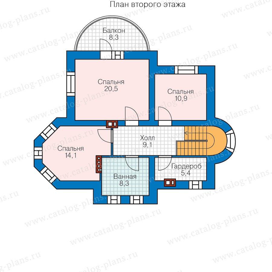 План 2-этажа проекта 40-75L