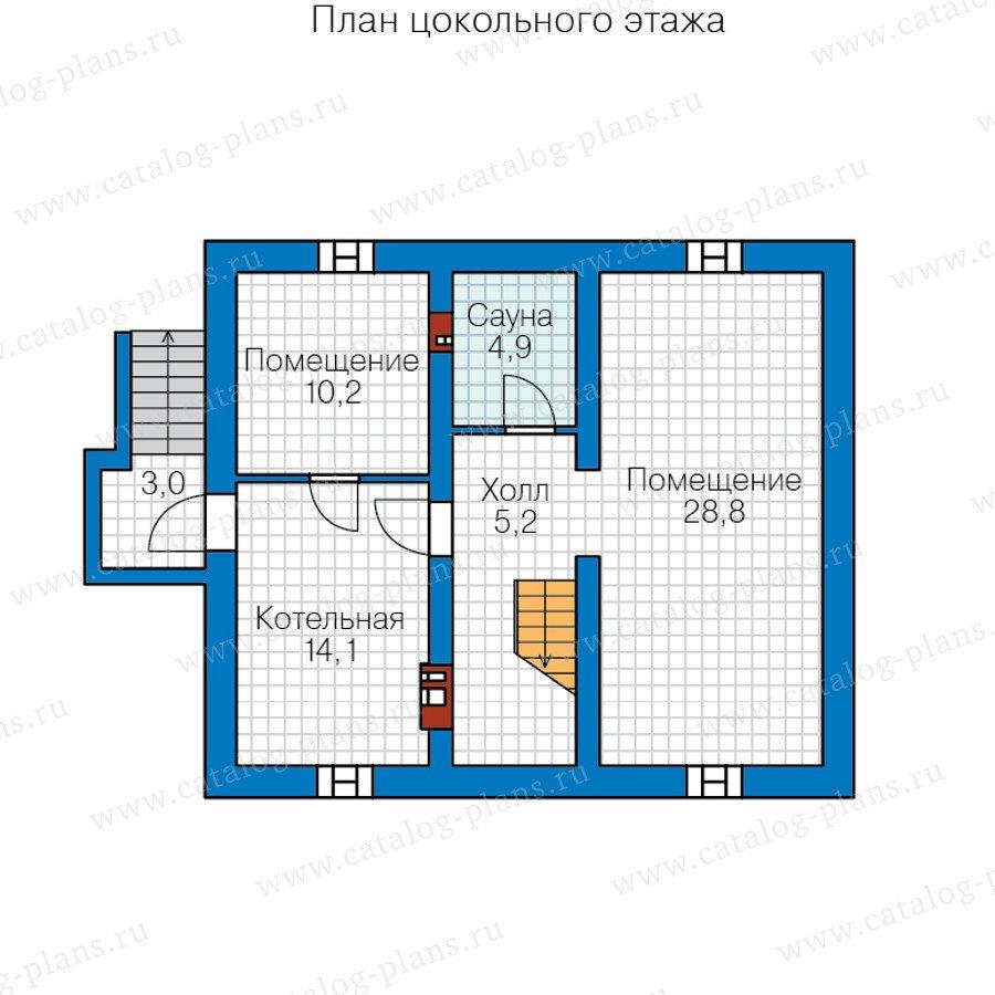 План 1-этажа проекта 40-73
